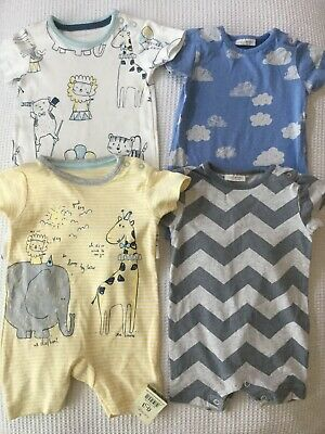 Next, George Baby Boys 0-3 Months Summer Rompers Bundle Combined Postage