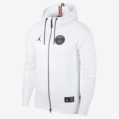 1079066c4 Nike Jordan x PSG Paris Saint Germain White Wings Full Zip Hoodie Sz XL FZ