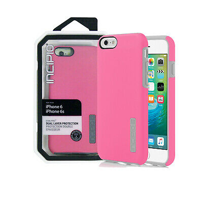 Case for iPhone 6/6s Incipio DualPro Shockproof Cover Bubble Gum Pink/Gray Soft