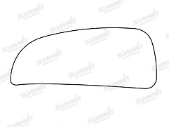 Fiat Ducato Self Adhesive Side Mirror Glass Bottom Section 2006-2019 Left/N/Side