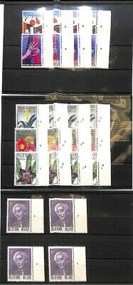 [OP8720] Belgium 1965 lot VF MNH stamps+ Plates Numbers on 9 pages - see photo