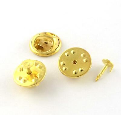 20 Pin Badge Butterfly Backs With Pins Lapel Clutch Clasp Gold Plated Ts77