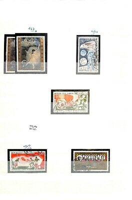 [OP8707] Gabon lot of stamps on 12 pages - see photos on description