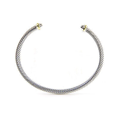 DAVID YURMAN Womens Cable Classics Bracelet with 18K Gold 4mm $395 NEW