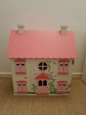 Wooden Kids Doll House With Furniture & people