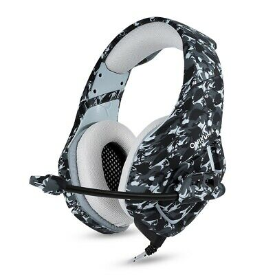 ONIKUMA K1 Stereo Bass Surround Gaming Headset Mic for PS4 Slim New Xbox One PC