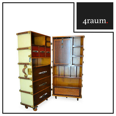 Authentic Models Stateroom Armoire, Ivory Wardrobe Trunk Maritime Vintage Office