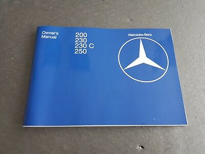 Mercedes W123 Owner's manual