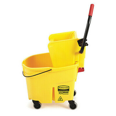 NEW Rubbermaid® FG758088 Commercial Wavebrake Side Press Combo YELLOW