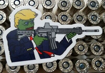 10 rare PEPE TRUMP Decals AR-15 Custom Stickers! Laptops Bumpers MAGA 4chan M-16