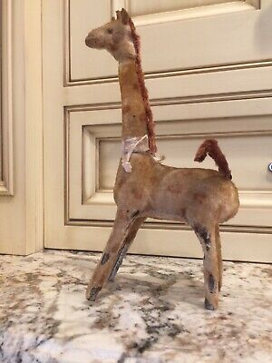Vintage Antique Toy Giraffe Mechanical Wind-up Shuco / early Steiff / German ?