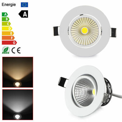 Dimmable LED Blanc Spot Encastrable Ampoule downlight plafonnier 5W Cool/Warm