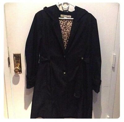 0794e34880a LARRY LEVINE WOMENS black trench coat (XL) -  32.00