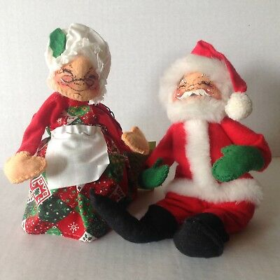 Vintage Annalee Christmas 1963 Dolls Santa Claus and Mrs. Claus 2393ea943
