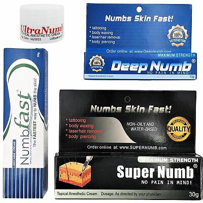 BEST Numbing Cream Super Deep Fast Ultra Numb Tattoo Piercings Waxing Laser Dr