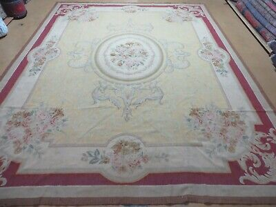 7' X 10' Hand Made French Aubusson Savonnerie Design Needlepoint Rug Wool Nice