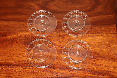 GPO No.21 clear dial finger plates x4