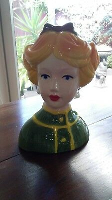 Beautiful Porcelain Contemporary Lady Head Vase