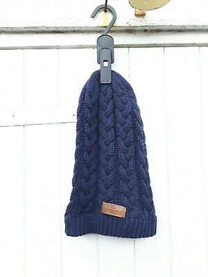 4d64fb9a680 Superdry Cable Knit Beanie Winter Hat- Dark Navy