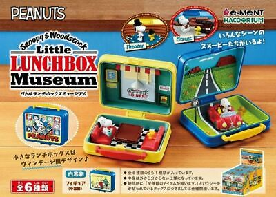 Re-Ment Peanuts Snoopy Lunch Box Museum Complete Set of 6