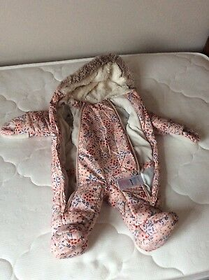 Waterproof Snowsuit Girls 3-6 Months