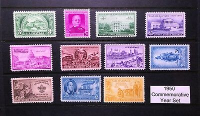 1950 US Commemorative Year Set (Complete) #987-997, MNH  FREE SHIPPING