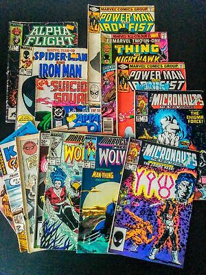 Marvel DC Comics Job Lot, Bunch of 15 Approx, In Various Conditions, Used, Old