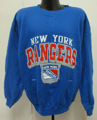 NEW YORK RANGERS 2XL CREWNECK SWEATSHIRT VINTAGE RETRO VTG NHL HOCKEY MENS  90s d1ec78f57