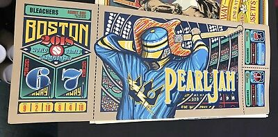 Pearl Jam Poster Klausen Ticket 2018 Boston Fenway The Away Shows! Brand New!