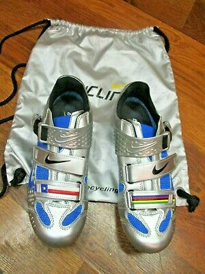 957cdccd92f148 Nos Lance Limited Carbon Road Cycling Shoes Eur 43.5 Us 9.5 Chrome   Photo  Blue