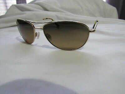 5165b96f6939 Authentic Maui Jim MJ-245-16R Baby Beach Polarized Sunglasses Gold NEW