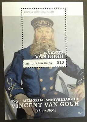 ANTIGUA BARBUDA STAMPS MNH-Anniversary of the Death of Vincent van Gogh, 2015,**