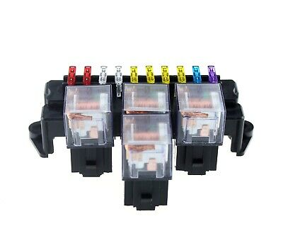 10 Way Auto Car 5 Road Fuse Box  Insurance Holder 6 Relay With Fuses
