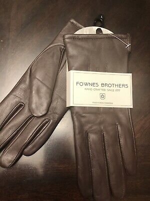 Fownes Brothers Brown Leather Gloves (L ) Touchscreen Compatible