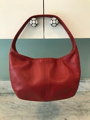 b0594b577c8b COACH E043-4286  RED Burgundy Suede Hobo Shoulder Bag -  18.99 ...