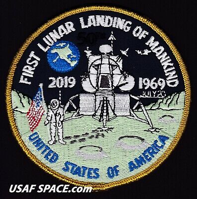 50th ANNIVERSARY - FIRST LUNAR LANDING OF MANKIND - APOLLO 11 - AB Emblem PATCH