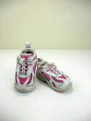 2c5be9786d7a Nike Toddler Infant Girls Size 5C White Pink Leather Tennis Shoes Sneakers