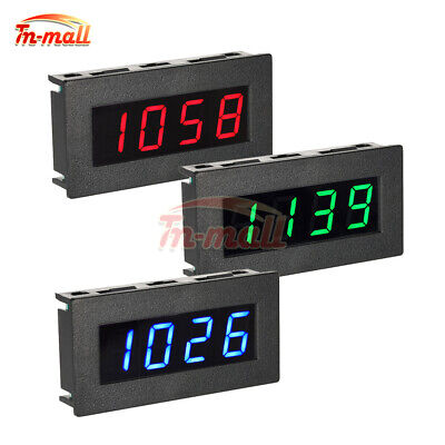 0.56'' DC 8-15V Digital 4 LED Frequency Tachometer Car Motor Speed Meter RGB