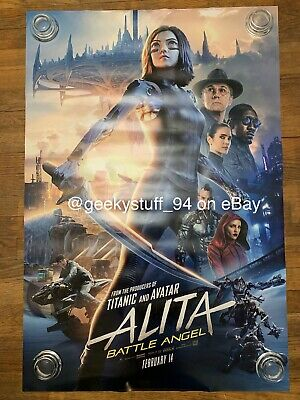 Alita Battle Angel DS Theatrical Movie Poster 27x40