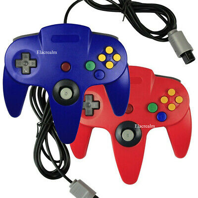 Classic Wired Long Handle GamePad Joystick Controller for Nintendo N64 Console
