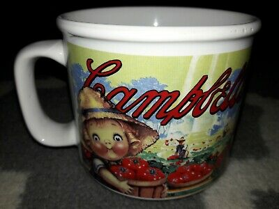 CAMPBELL'S SOUP BOWL/MUG 1998 Red 13oz Kid with Straw