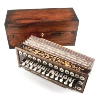 FLUTINA Accordion - Mother of Pearl, KEITH - PROWSE & Co, Rosewood Inlaids, Case