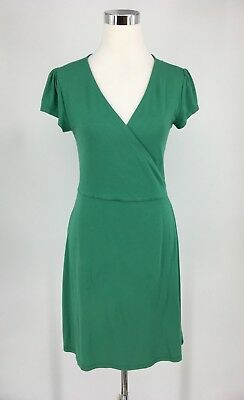 4a0c4b8d4a30 BODEN WOMEN S PETITE Summer Jersey Green Wrap Dress Size UK10P US 6P ...