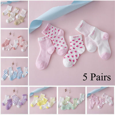 5 Pack Baby Boy Girl Cotton Baby Socks Toddler Socks Unisex Socks 0-6 Years