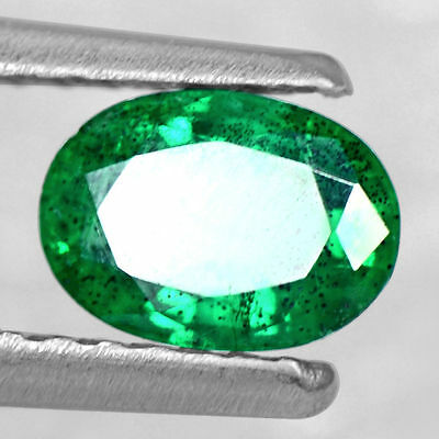 0.46 Cts Natural Top Green Emerald Oval Cut Untreated Zambia 6x4 mm Gemstone $