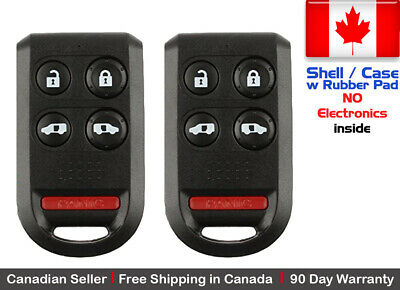 2x New Replacement Keyless Entry Remote Key Fob For Honda Odyssey Shell / Case