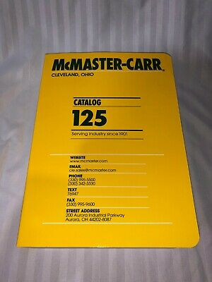 McMaster-Carr Catalog 125, 2019, NEW, *** FREE SHIPPING *** GET ONE NOW!!!