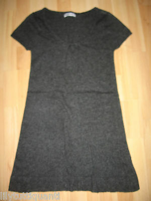 059470be988f WOMAN ONLY - Robe lainage grise manches courtes angora - Taille 36 - TBE !