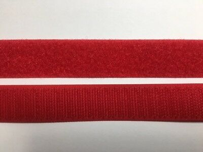 VELCRO® Genuine Brand - Sew On - Red - 1 Mt X 20mm (2cm) - Brandnew
