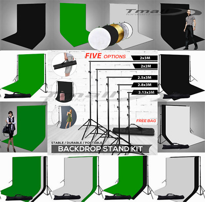 Photo Heavy-Duty Backdrop Stand Adjustable Support Muslin Background Screen KIT
